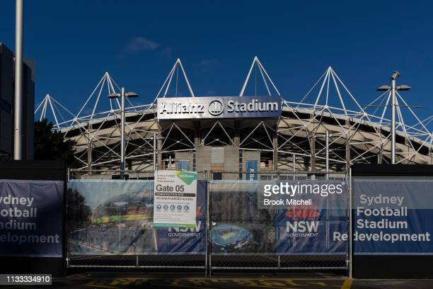 A general view of the Sydney Football Stadium from outside locked gates on 03 March 2019 in Sydney Australia The New South Wales land and environment...