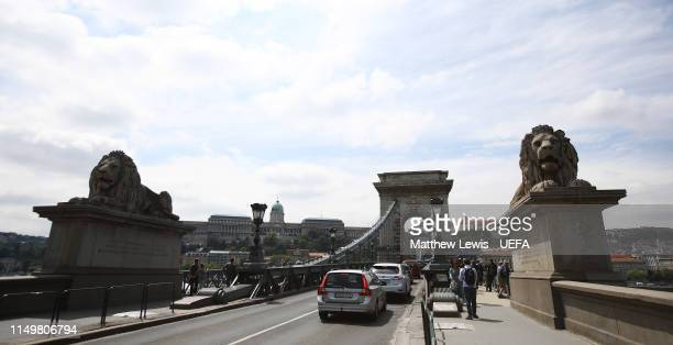 General view of the Szechenyi Chain Bridge ahead of the UEFA Women's Champions League Final at Groupama Arena on May 17, 2019 in Budapest, Hungary.