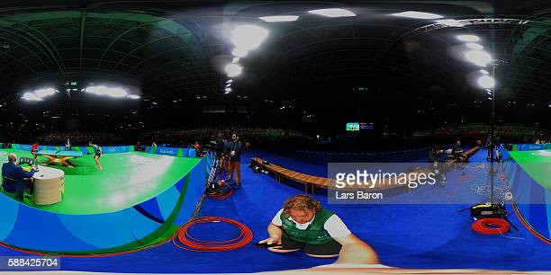 A general view of the Table Tennis at Rio Centro on August 11 2016 in Rio de Janeiro Brazil