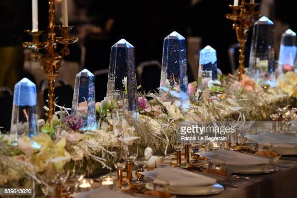 General view of the tables at the Nobel Prize Banquet 2017 at City Hall on December 10 2017 in Stockholm Sweden
