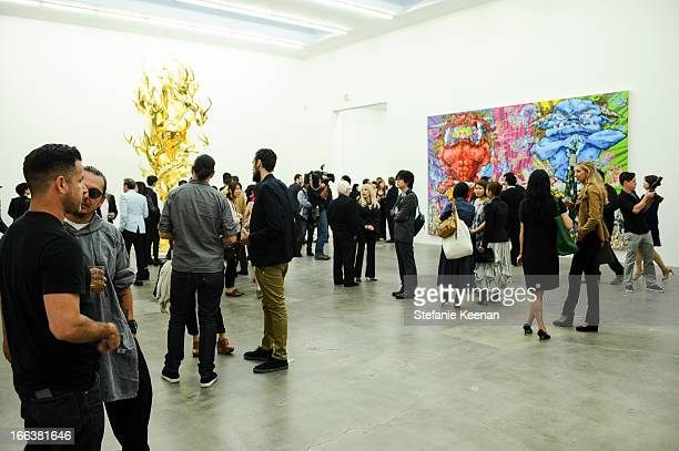 General view of the Takashi Murakami Private Preview at Blum Poe on April 11 2013 in Los Angeles California