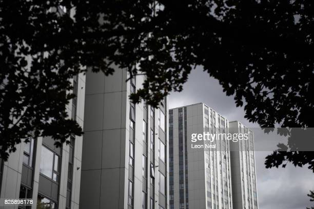 A general view of the Taplow and Burnham Towers in the Chalcot estate on August 3 2017 in London England Despite ongoing concerns over the potential...