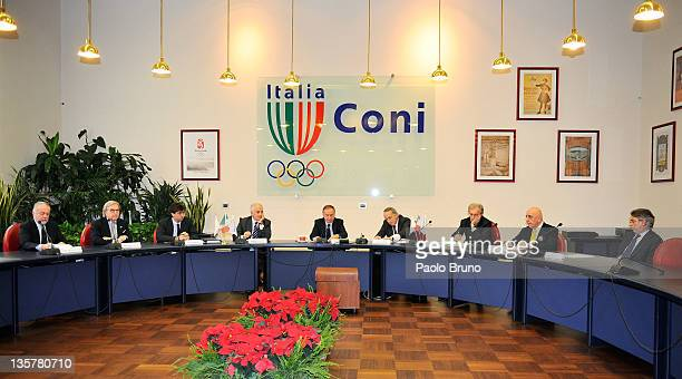 A general view of the Tavolo Della Pace Meeting on December 14 2011 in Rome Italy