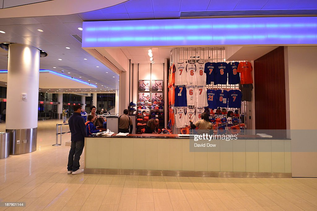 A general view of the team store in the new Chase Square at Madison Square Garden on November 3, 2013 at Madison Square Garden in New York City, New York.