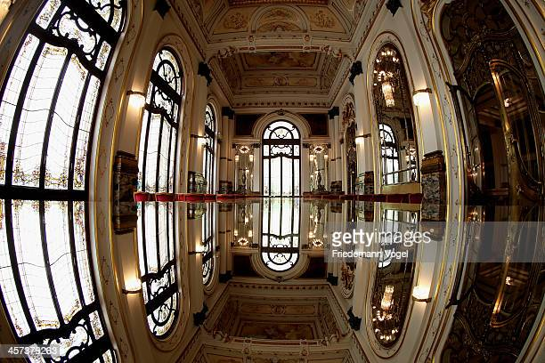 A general view of the Teatro Municipal ahead of the FIFA 2014 World Cup Brazil on December 16 2013 in Sao Paulo Brazil
