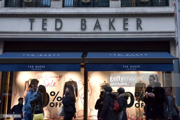 c09ab62c439894 A general view of the Ted Baker fashion retailer in Regent Street on  January 03 2019