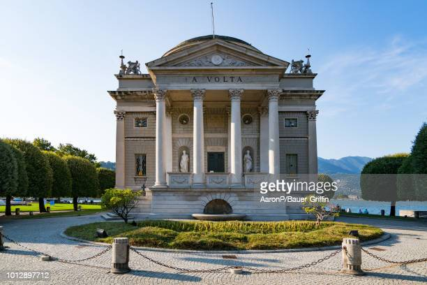 General view of the Tempio Voltiano on August 07 2018 in Como Italy