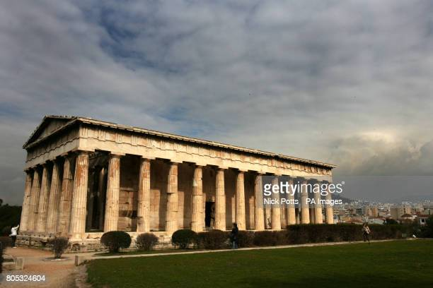 General view of the Temple of Hephaestus or Theseion in Athens