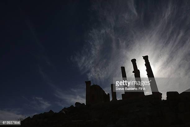 General view of the Temple of Zeus at the Roman ruins of Jerash on October 10 2016 in Jerash Jordan