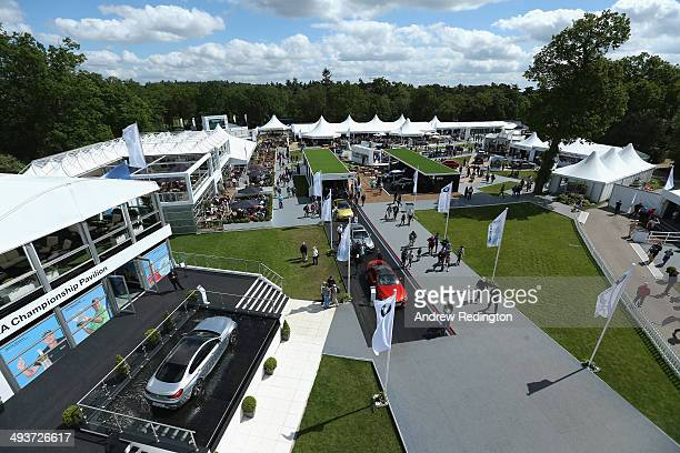 General View of the tented village during day four of the BMW PGA Championship at Wentworth on May 25 2014 in Virginia Water England