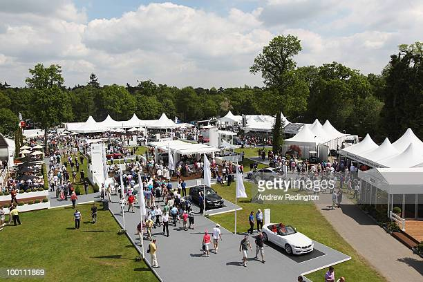 General view of the tented village during the second round of the BMW PGA Championship on the West Course at Wentworth on May 21 2010 in Virginia...