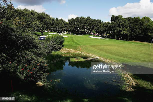 A general view of the tenth hole is seen during the final round of the 2004 Volvo Masters at the Valderrama Golf Club on October 31 2004 in...