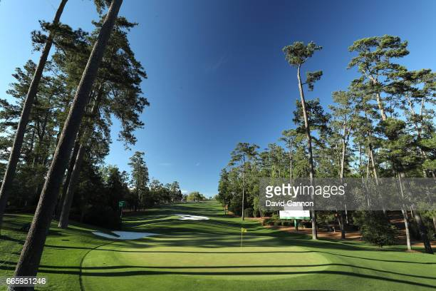 A general view of the tenth hole is seen during the second round of the 2017 Masters Tournament at Augusta National Golf Club on April 7 2017 in...