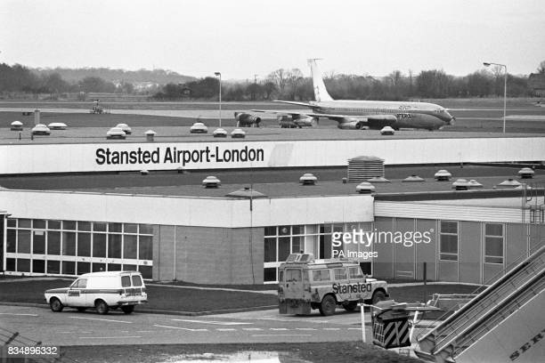 A general view of the terminal and aircraft of Stansted Airport which is to be developed as London's third international airport