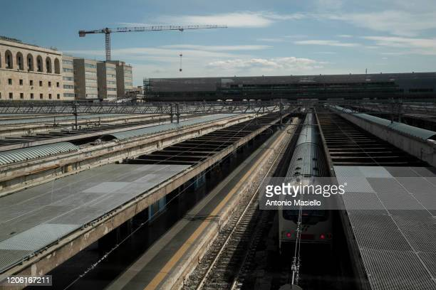 General view of the Termini Central Station during the Coronavirus emergency, on March 9, 2020 in Rome, Italy. Italian Prime Minister Giuseppe Conte...