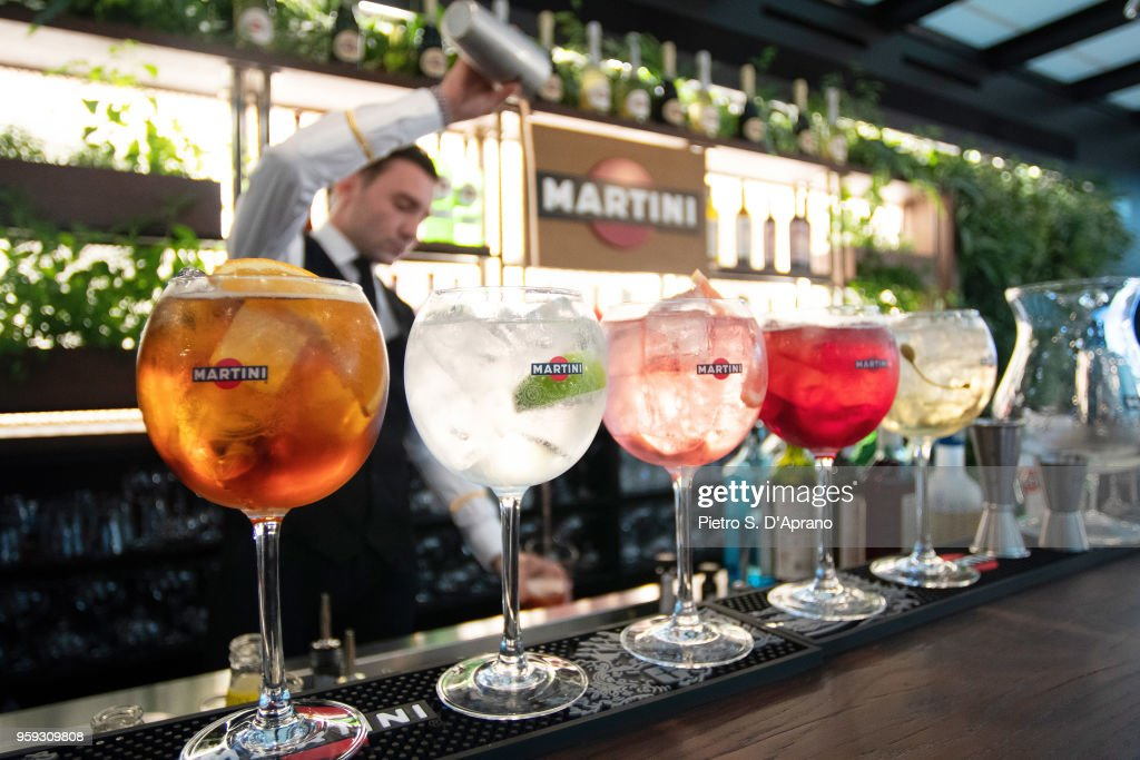 General View Of The Terrazza Martini Milano Grand Opening At