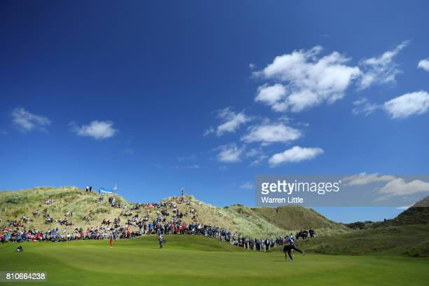 General View of the the 3rd green during day three of the Dubai Duty Free Irish Open at Portstewart Golf Club on July 8 2017 in Londonderry Northern...
