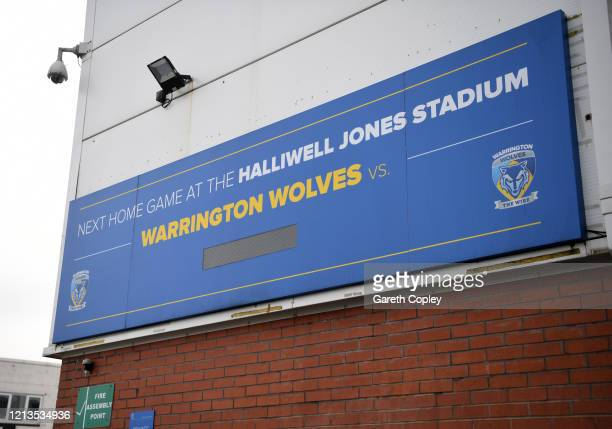 General view of the The Halliwell Jones Stadium, home of Warrington Wolves on March 19, 2020 in Warrington, England.