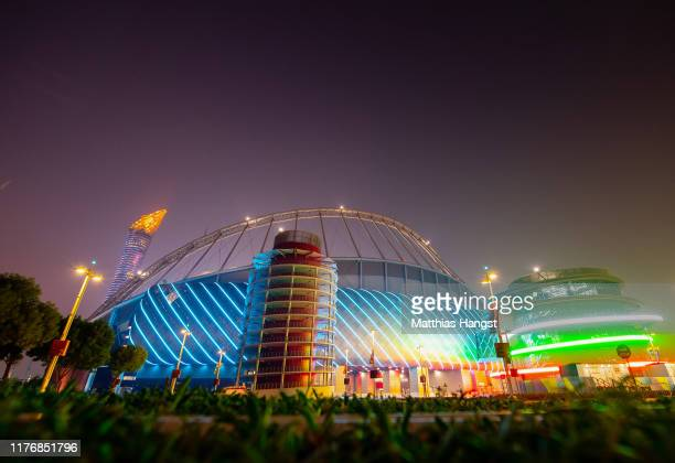 A general view of the the Khalifa International Stadium prior to the 17th IAAF World Athletics Championships Doha 2019 at Khalifa International...