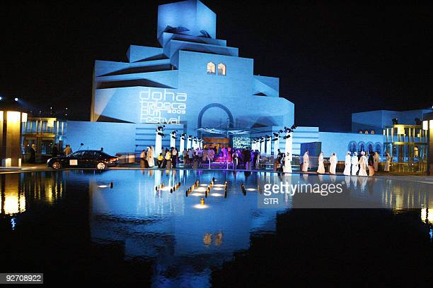 A general view of the the Museum of Islamic Art during the 2009 Doha Tribeca Film Festival on October 30 2009 in Doha QatarAFP PHOTO STR