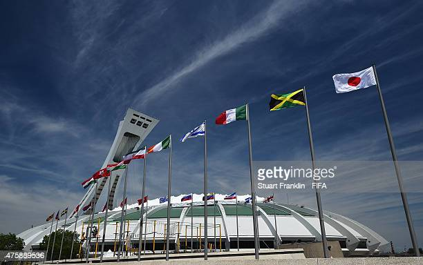 A general view of the the Olympic stadium venue for the FIFA Women's World Cup on June 4 2015 in Montreal Canada