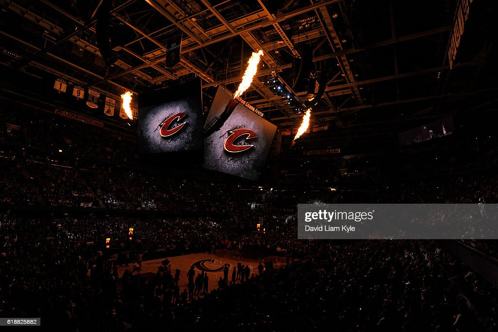A general view of the The Quicken Loans Arena before the New York Knicks game against the Cleveland Cavaliers on October 25, 2016 in Cleveland, Ohio.