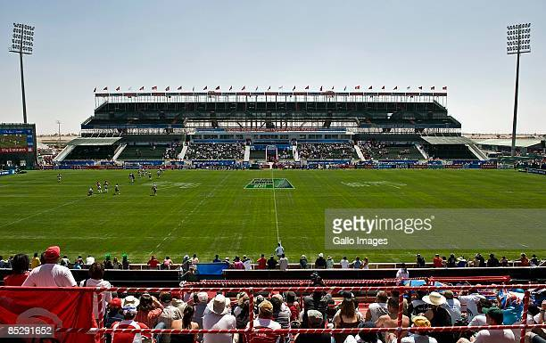 A general view of the The Sevens stadium during the final day of the IRB Rugby World Cup Sevens 2009 on March 7 2009 in Dubai UAE