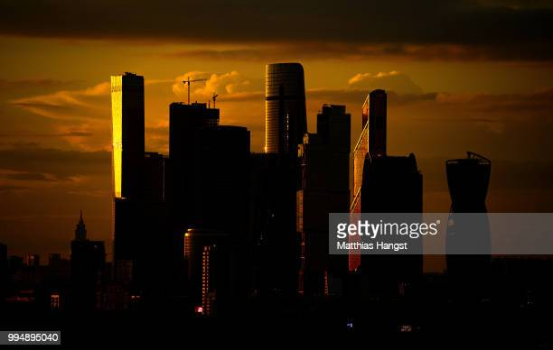A general view of the the skyscrapers of the Moscow International Business Center also known as Moscow City ahead of the 2018 FIFA World Cup...