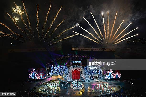 A general view of the The TransAlta Grandstand Show at Calgary Stampede on July 14 2016 On Thursday 14 July 2016 in Calgary Canada