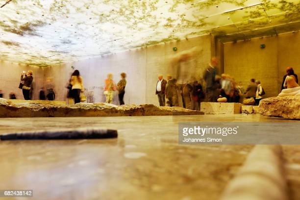 General view of 'The Theater of Disappearance' exhibition of Argentine artist Adrian Villar Rojas during the opening at Kunsthaus on May 12 2017 in...