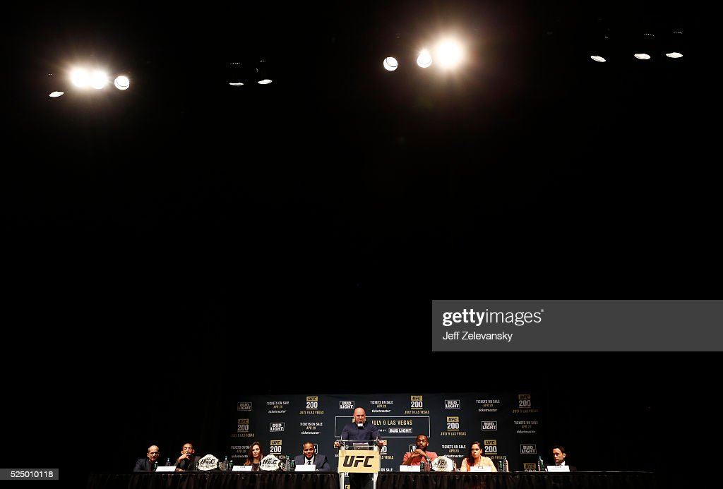 General view of the Theatre at Madison Square Garden during a media availability for UFC 200 at Madison Square Garden on April 27, 2016 in New York City.