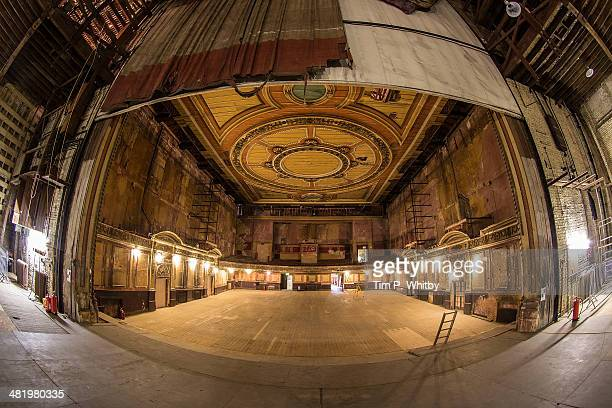 A general view of the theatre from the stage of Alexandra Palace before a new phase of work commences as part of a regeneration plan at Alexandra...