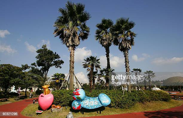 General view of the theme park 'Love Land' on October 24 2009 in Jeju South Korea Love Land is an outdoor sexthemed sculpture park which opened in...