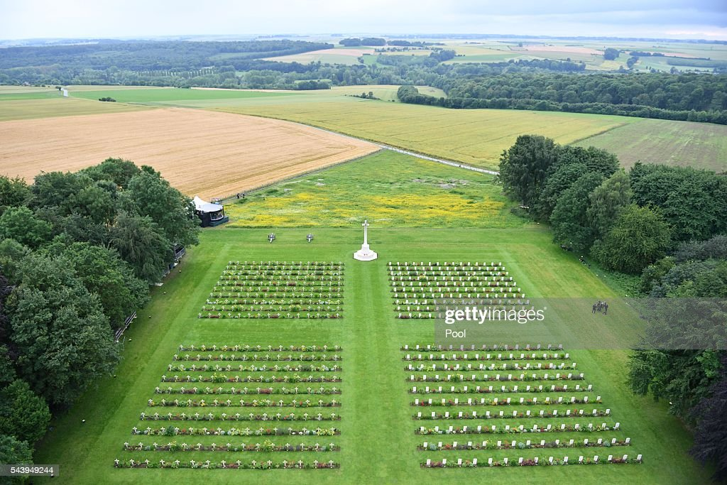Royal Family Attend The Somme Centenary Commemorations In France : News Photo