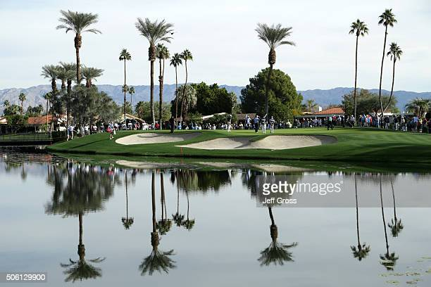 General view of the third green as Charley Hoffman putts during the first round of the CareerBuilder Challenge In Partnership With The Clinton...