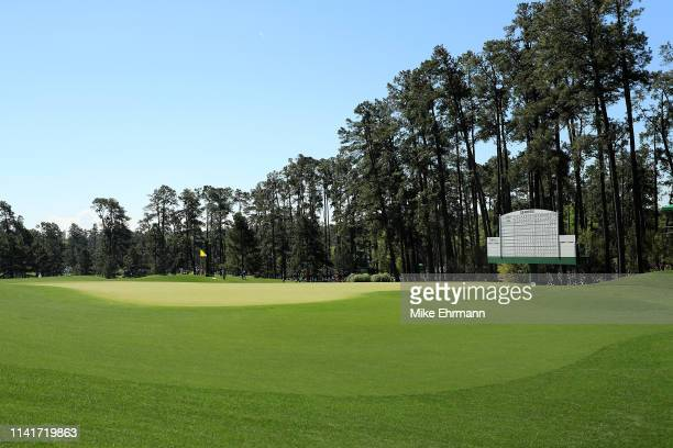General view of the third green during a practice round prior to the Masters at Augusta National Golf Club on April 10, 2019 in Augusta, Georgia.