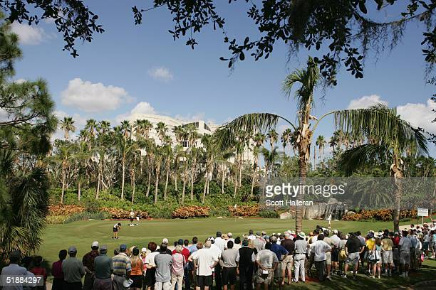 A general view of the third green during the third round of ADT Championship at the Trump International Golf Club on November 20 2004 in West Palm...