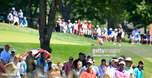 A general view of the third hole during the fourth and final round of A Military Tribute At The Greenbrier held on The Old White TPC on July 8 2018...