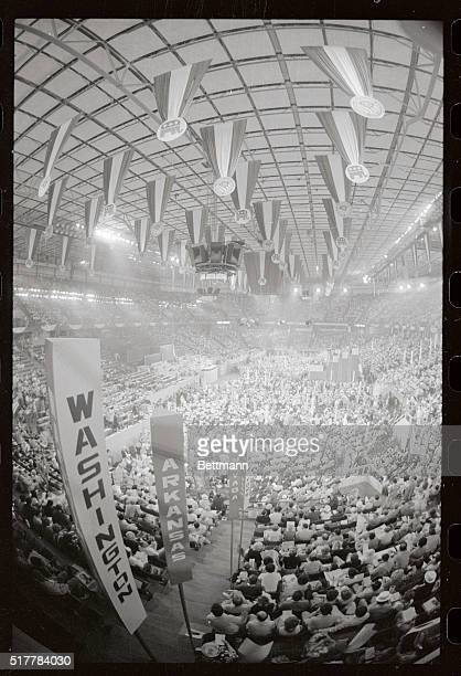 A general view of the third session of the Republican National Convention in Kemper Arena