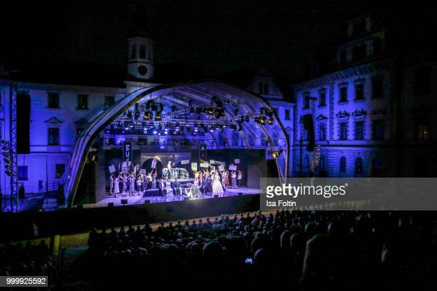 A general view of the Thurn Taxis Castle Festival 2018 'Evita' Musical on July 15 2018 in Regensburg Germany