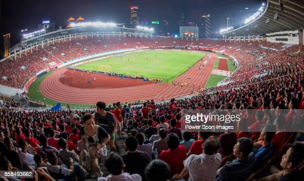 General view of the Tianhe Sport Center during the AFC Champions League 2015 2nd Leg match between Guangzhou Evergrande and Seongnam FC on May 27,...