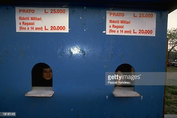 General view of the ticket office during the San Marino Grand Prix at the Imola circuit in San Marino Mandatory Credit Pascal Rondeau/Allsport