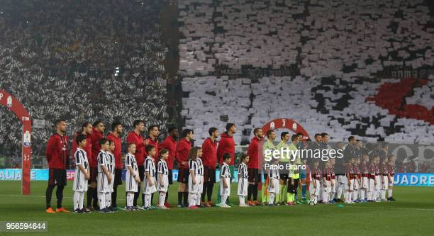 A general view of the TIM Cup Final between Juventus and AC Milan at Stadio Olimpico on May 9 2018 in Rome Italy