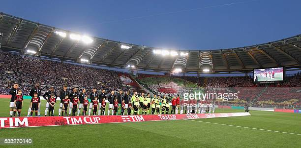 A general view of the TIM Cup final match between AC Milan and Juventus FC at Stadio Olimpico on May 21 2016 in Rome Italy