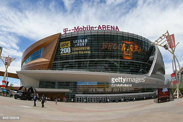 General view of the TMobile Arena before UFC 200 on July 9 2016 in Las Vegas Nevada