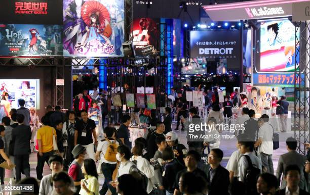 General view of the Tokyo Game Show 2017 at Makuhari Messe on September 21, 2017 in Chiba, Japan.