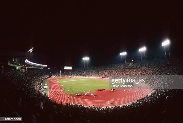 A general view of the Tokyo National Stadium during the 1991 IAAF World Track and Field Championships held in August 1991 in Tokyo Japan The stadium...