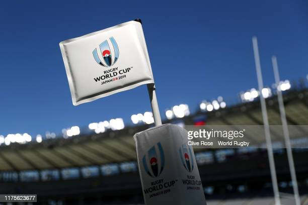 A general view of the Tokyo Stadium ahead of the opening match of the Rugby World Cup 2019 between Japan and Russia on September 19 2019 in Tokyo...
