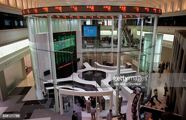 A general view of the Tokyo Stock Exchange's information providing space 'Arrows' during the press preview on May 2 2000 in Tokyo Japan