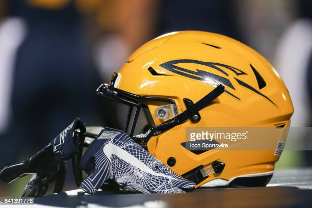 A general view of the Toledo helmet is seen during the second half of game action between the Elon Phoenix and the Toledo Rockets on August 31 at the...